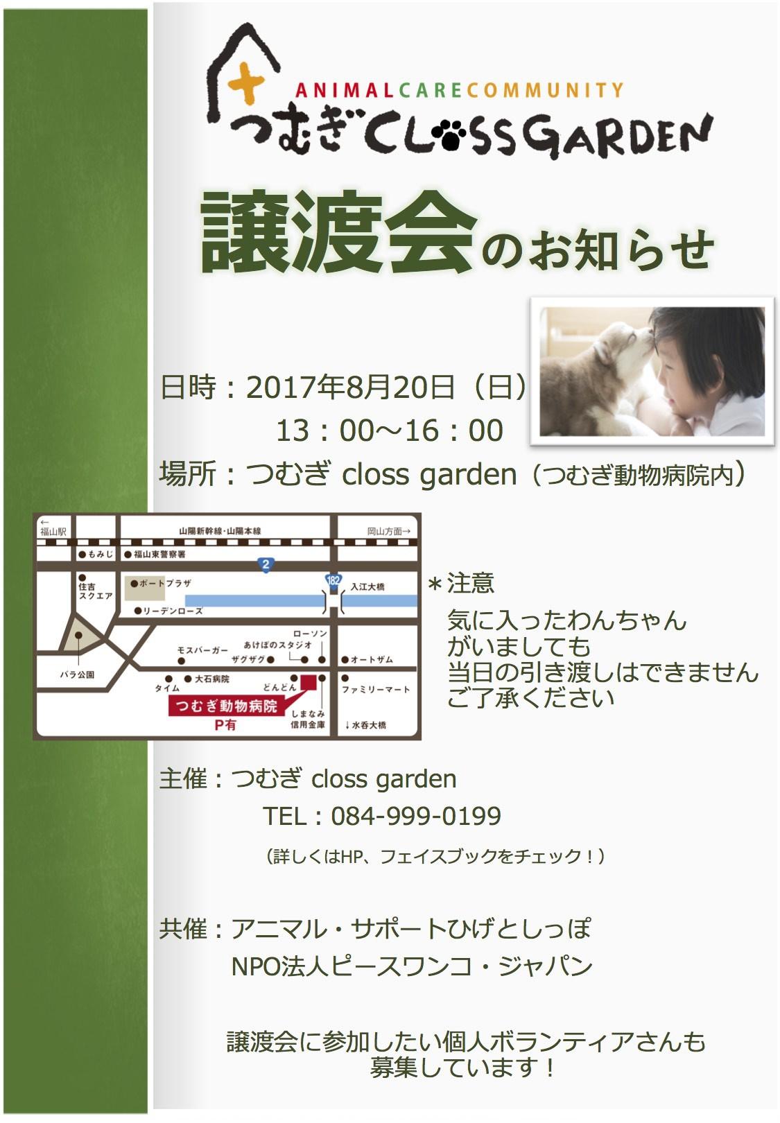 譲渡会 2017.8